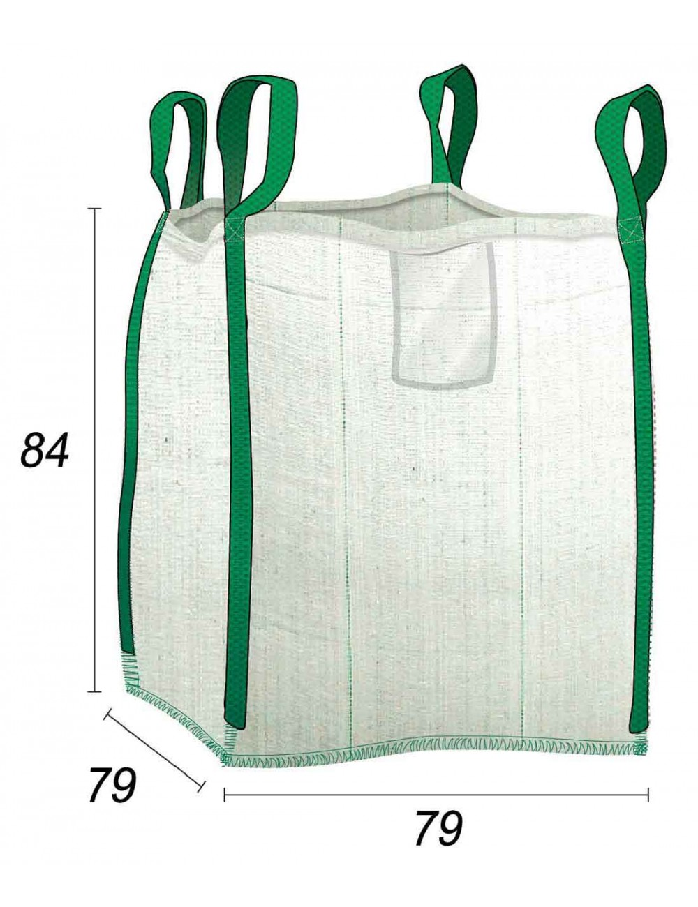 Sacchetti per rifiuti verdi 450L Individui ideali - 75X75X80