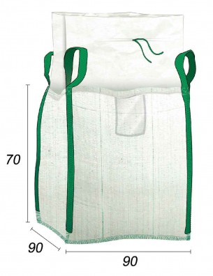 Big Bag 1/2 m3 con Apertura a caramella - 90X90X70