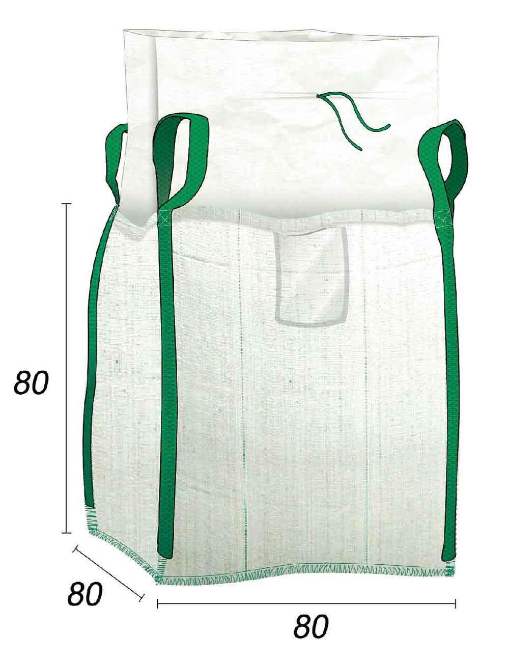 Jumbo Bags per Cantiere 500 L per uso domestico - 80X80X80