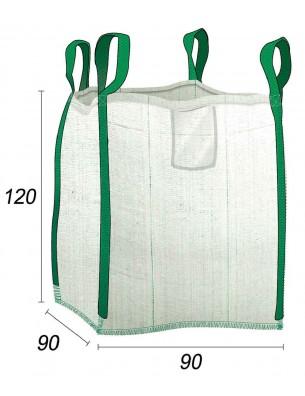 Big Bag - Borsa da giardino Multiuso rinforzato - 90X90X120