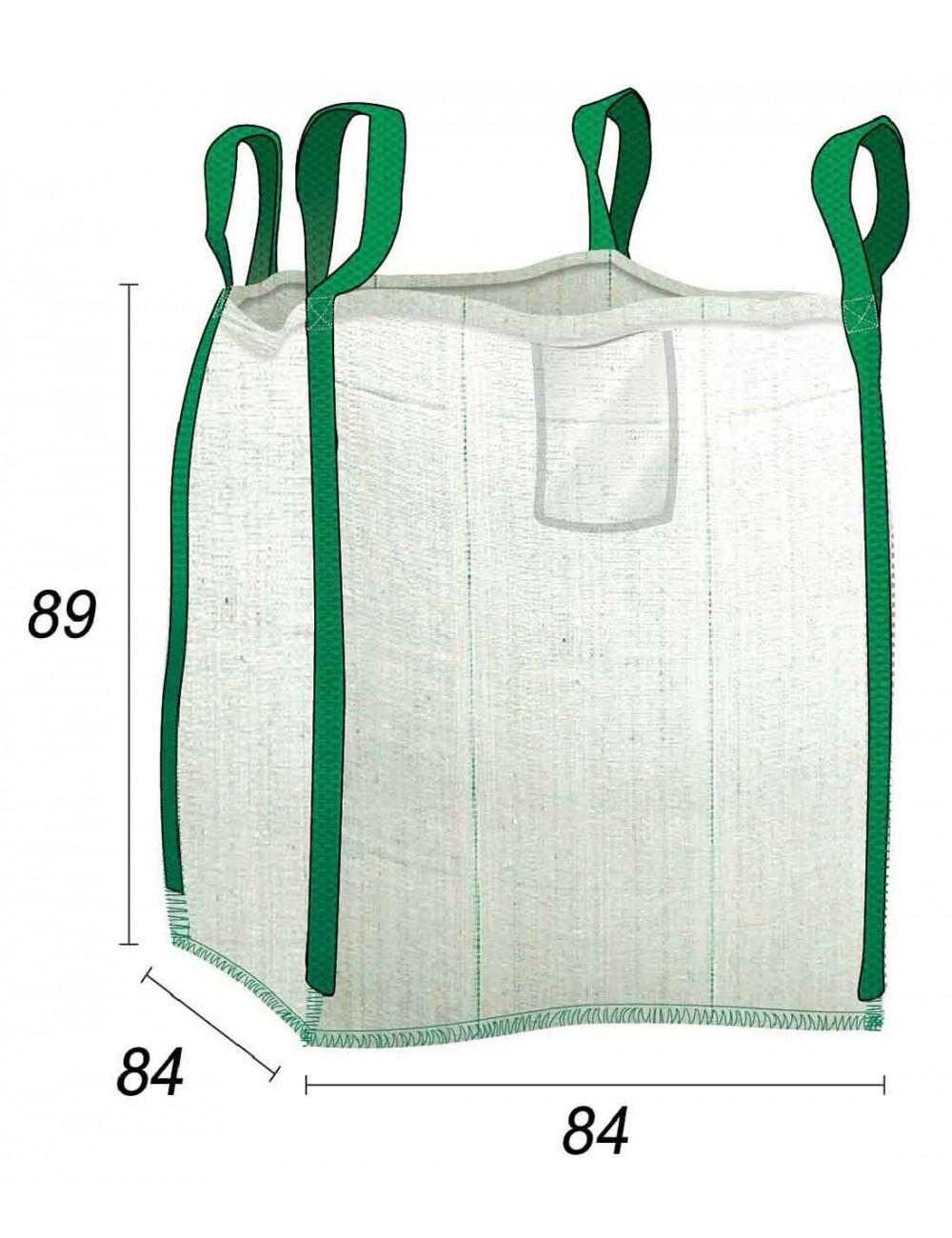 Sacco di macerie 0,5 m3 per i cantieri domestici - 80X80X85