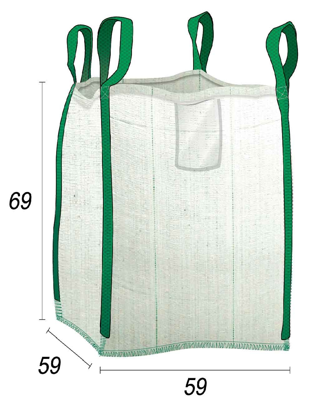 Mini Big Bag Rifiuti domestici e fai da te - 55X55X65