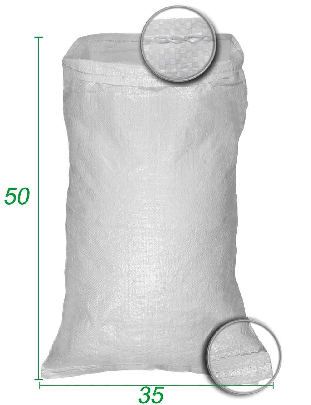 Sacchetto riutilizzabile in polipropilene Bianco Dim 35X50 cm