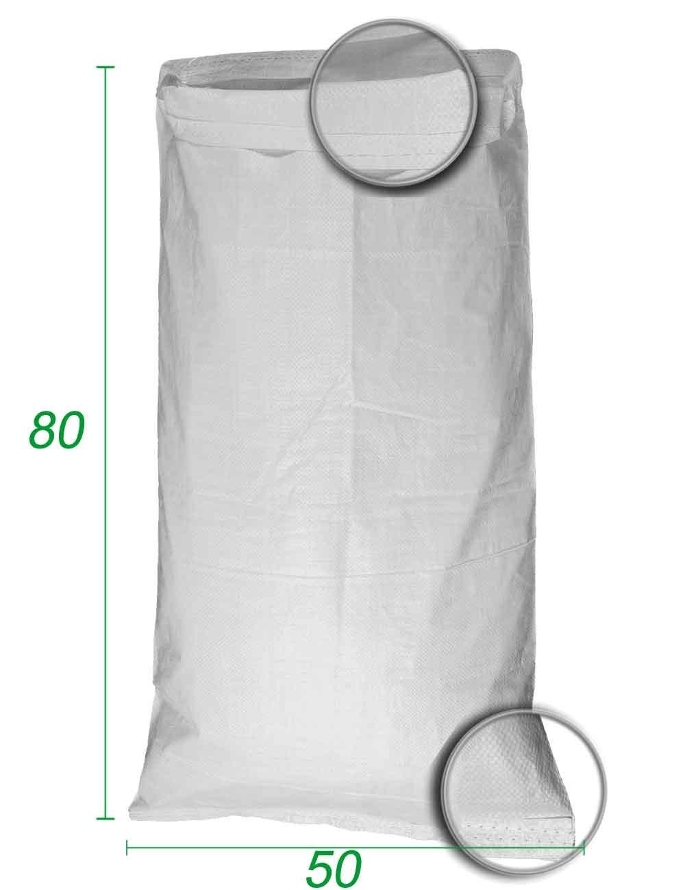 Sacchetti PP Stoccaggio alla rinfusa Bianco 50X80