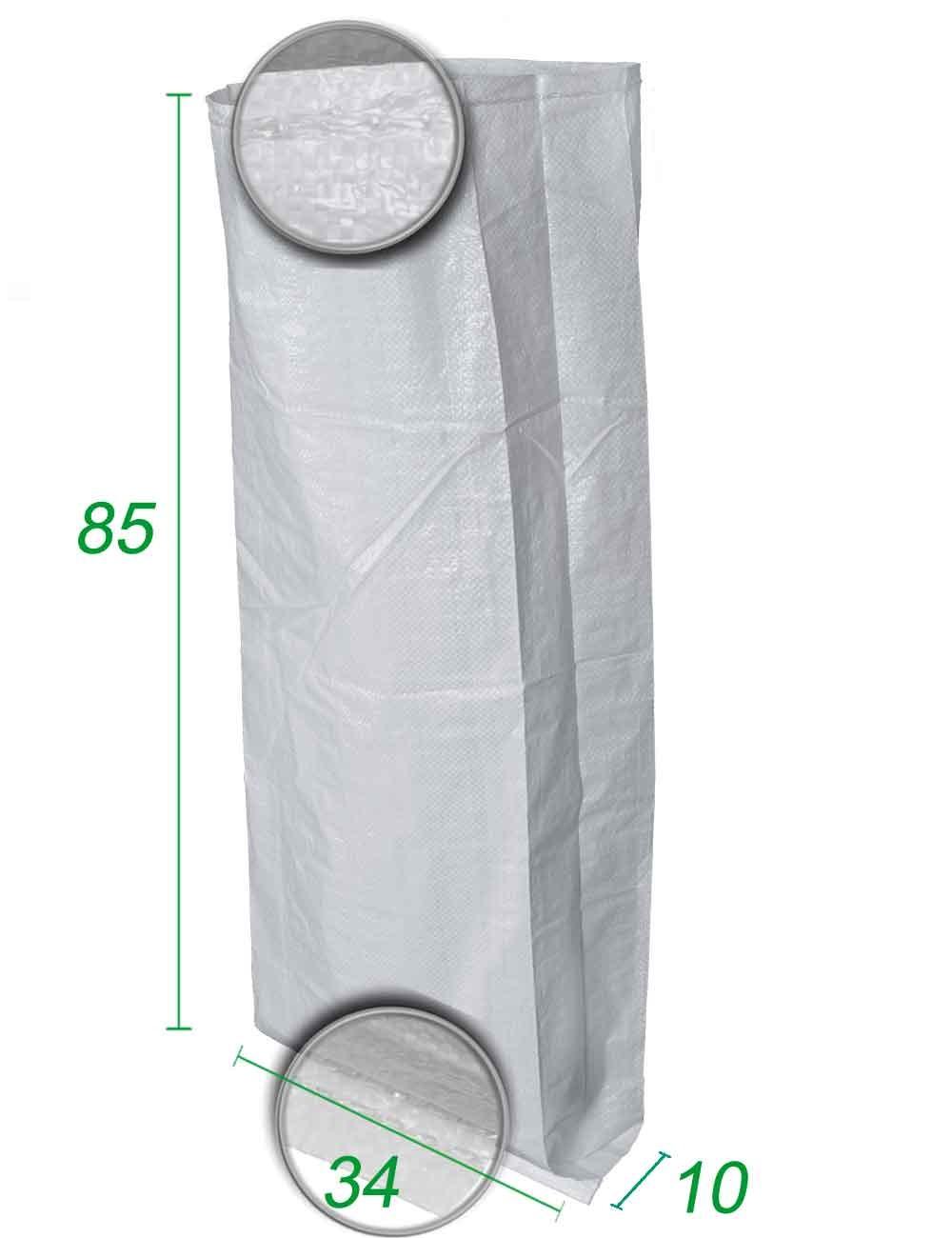 Sacchetti PP intrecciato con soffietto 34X85X10