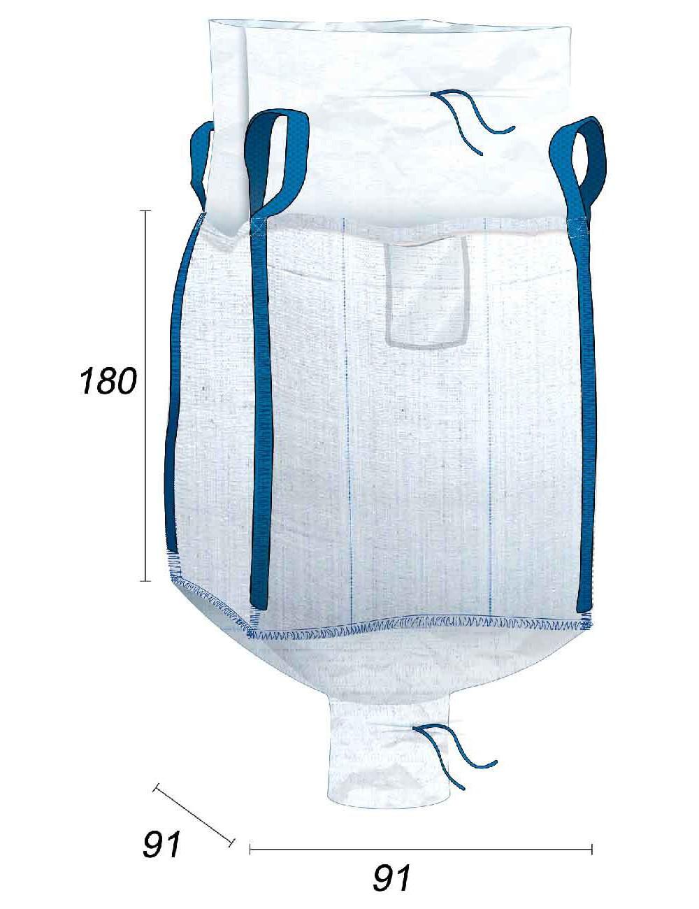 Big Bag Adatto al contatto con gli alimenti - 91X91X180