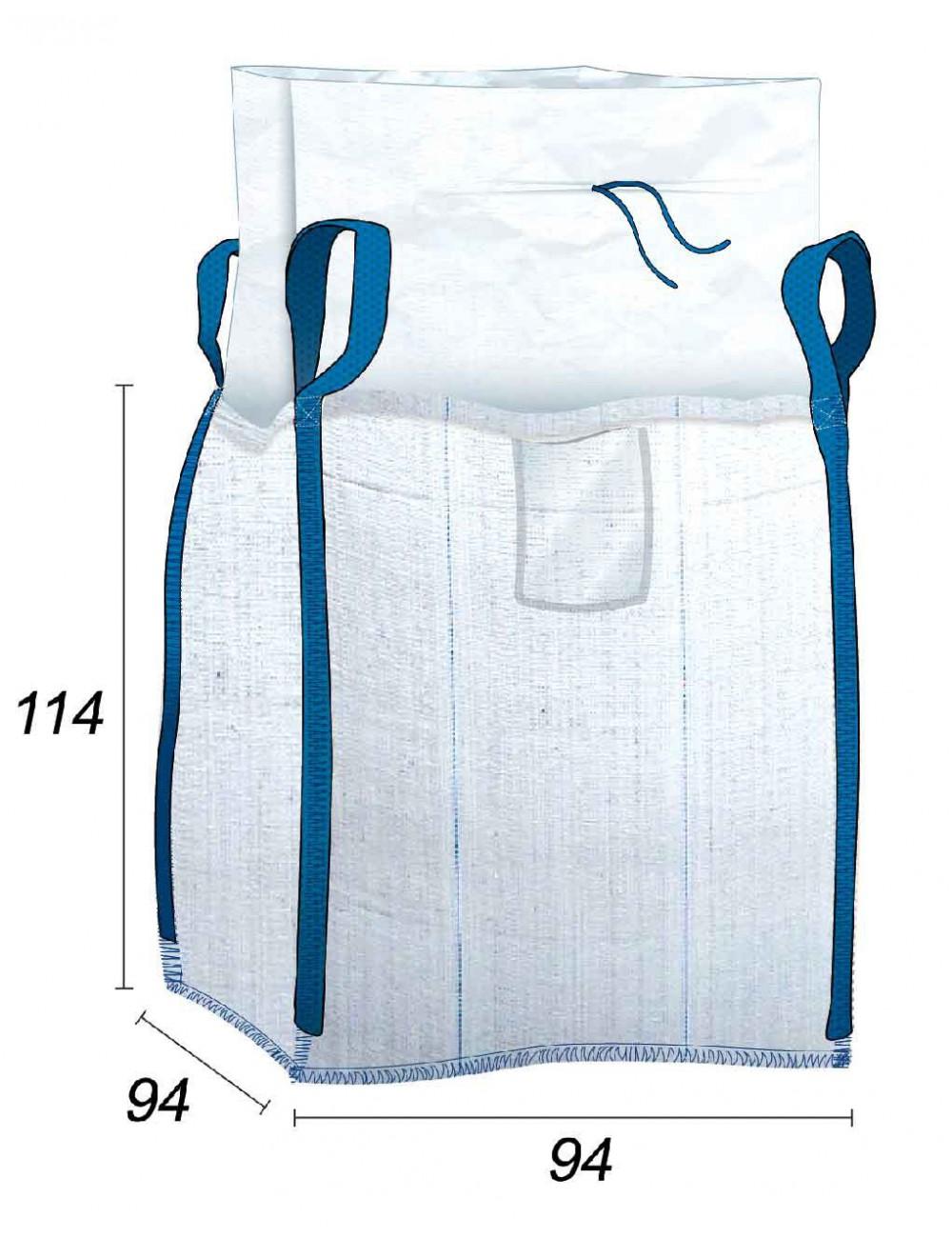 Big Bag Sacco macerie Vuoto Stoccaggio alla rinfusa - 90X90X110