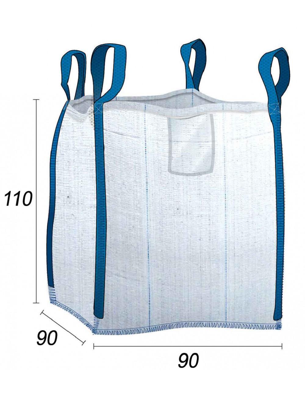 Big Bag Stoccaggio a vuoto Legno e tronchi 1 m3 - 90X90X110