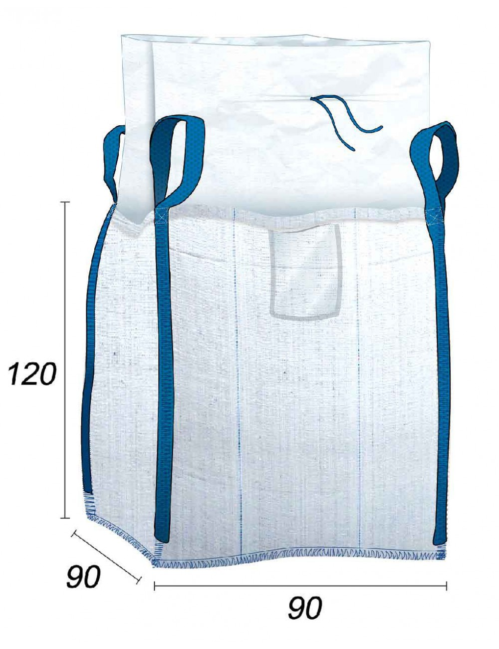 Big Bag 2000 kg Carichi e prodotti pesanti - 90X90X120