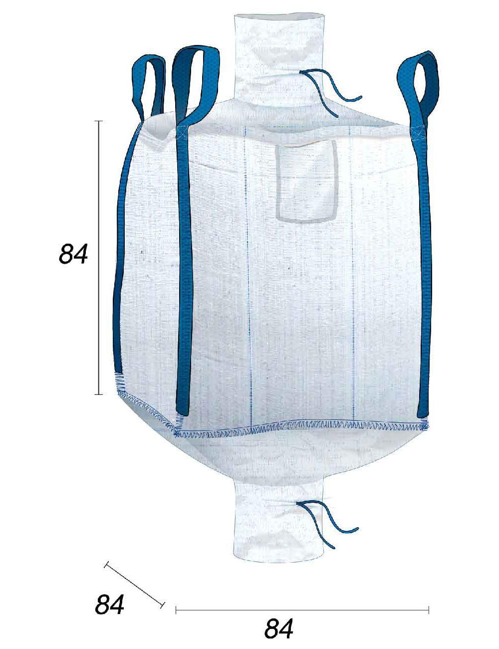 Mini Big Bag 500L valvole di carico e scarico - 80X80X80
