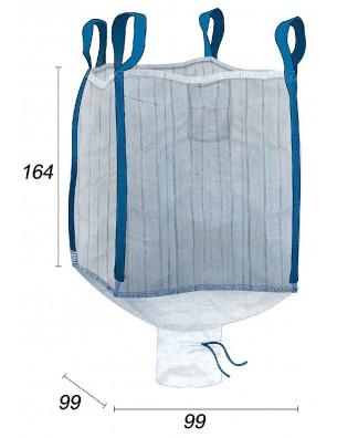 Big Bag Ventilato, corteccia e piastre di legno - 95X95X160