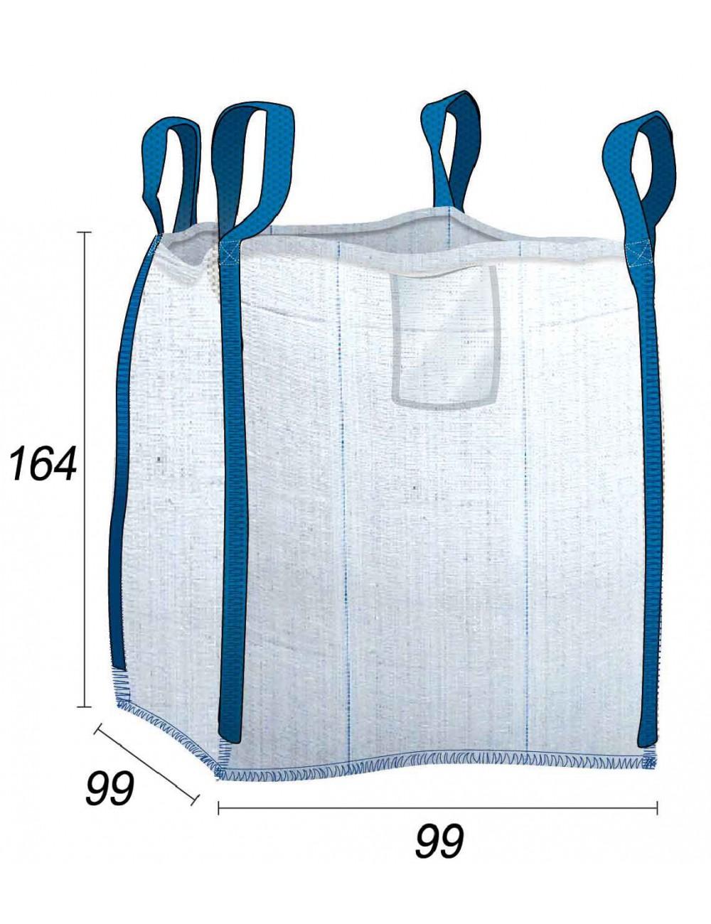 Big Bag 1,25 t con tela ventilata - 95X95X160