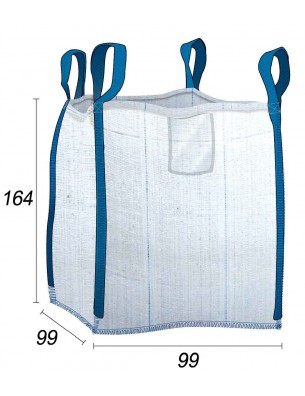 Big Bag 1,25 t con tela ventilata - 95X95X160