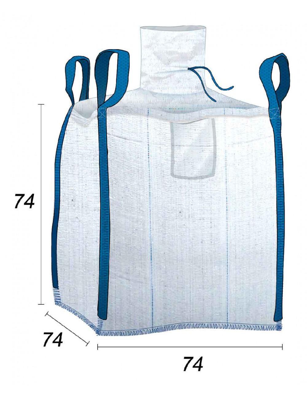 Big Bag Impermeabile con cuciture anti-perdita - 70X70X70