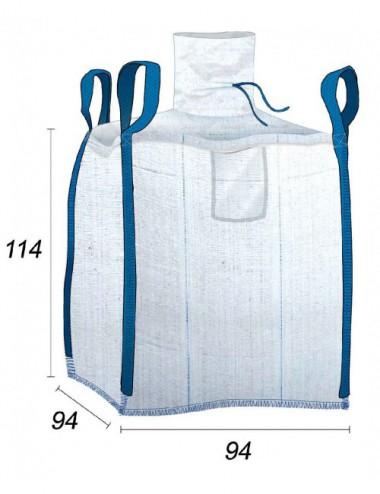 BigBag Laminato con cuciture ermetiche - 90X90X110