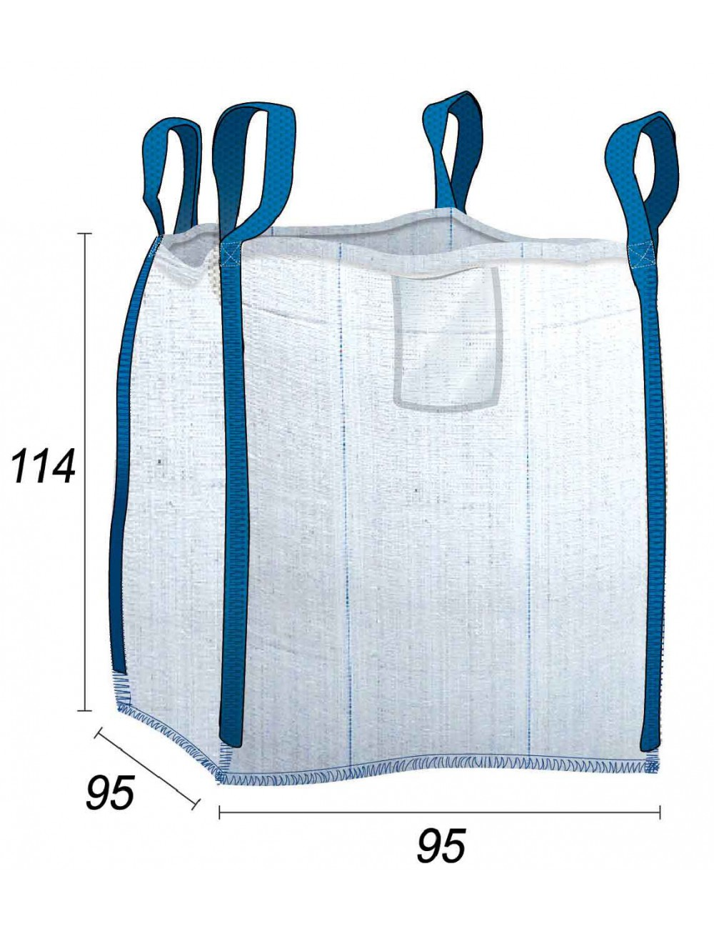 Big Bag Corpo sigillato con cuciture anti-perdita - 91X91X110