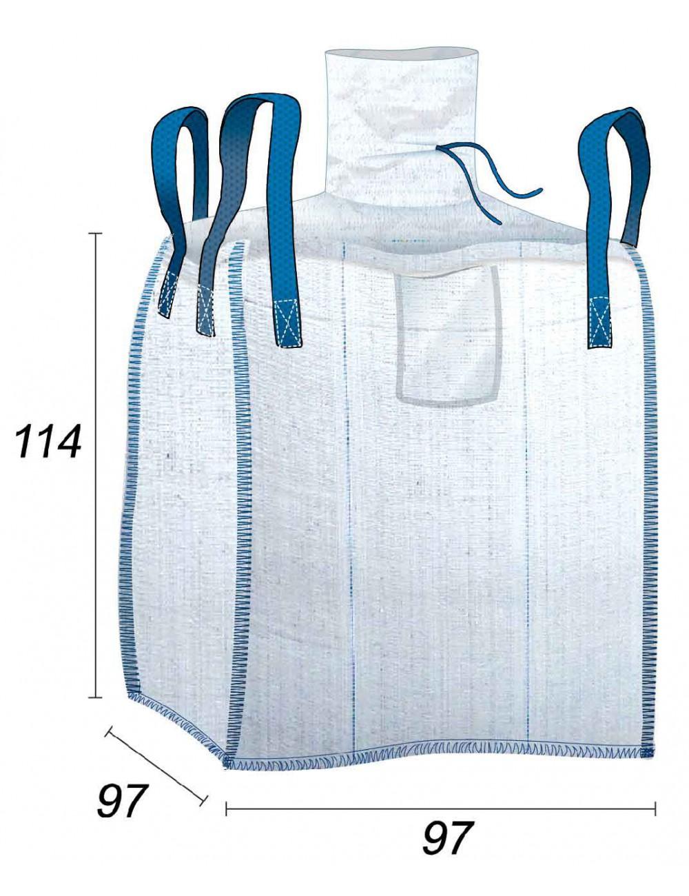 Big Bag Contatto con gli alimenti e ermetico - 93X93X110