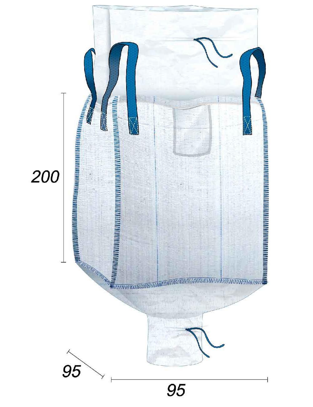 Big Bag Grande volume di 1,8m3 & ermetico - 95X95X200