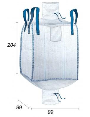 Big Bag Segatura & Pellet da tenere all'asciutto - 95X95X200