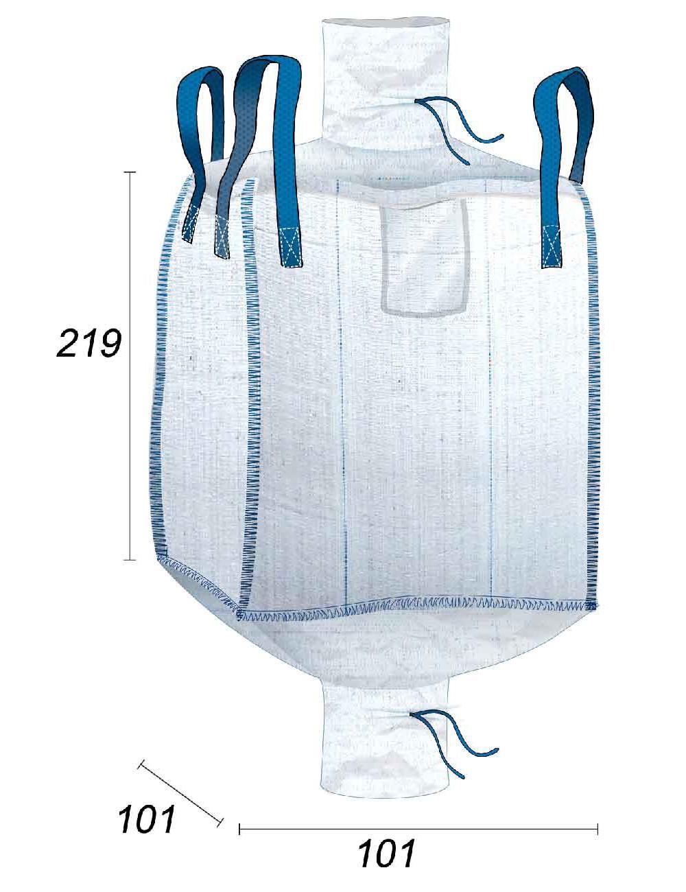 Big Bag 2m3 Grande capacità - 97X97X215