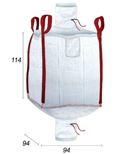 Big Bag Foderato con copertura interna in PE da 70µ - 90X90X110