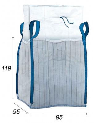Big Bag Ventilato con strisce ventilazione su 4 lati - 91X91X115