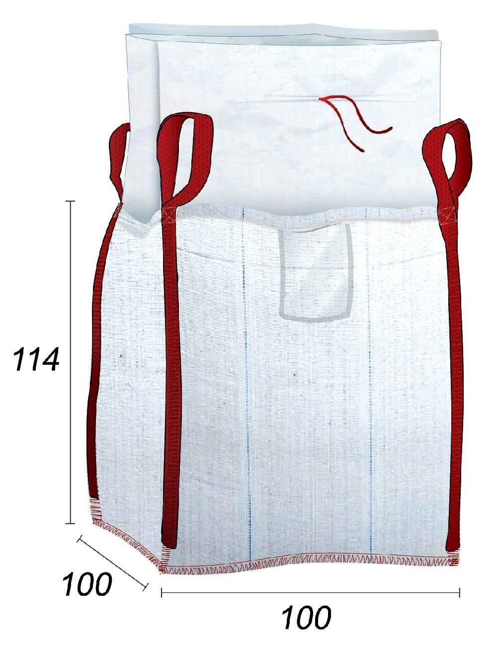 Big Bag con sacchetto interno in PE - 96X96X110