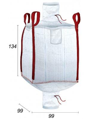 Big Bag Foderato all'interno con sacchetto da 70µ. - 95X95X130