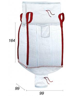 Big Bag Fodera per i rifiuti di vetro - 95X95X160