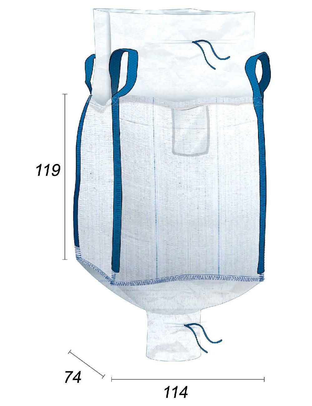 Big Bag Base rettangolare - 70X110X115
