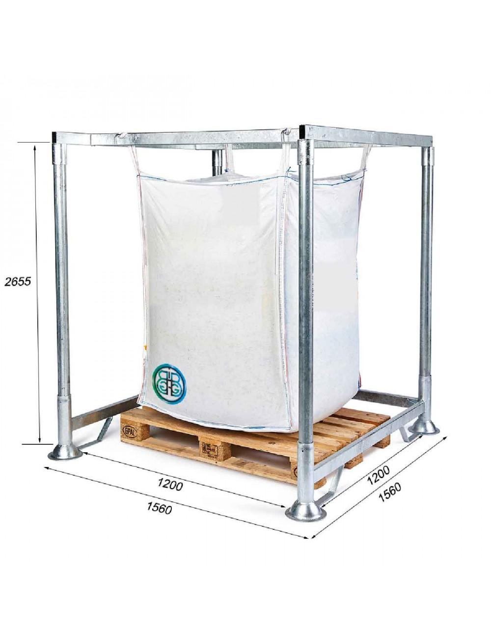 Portaborse Big Bag con ingresso pallet Altezza 265,5 cm