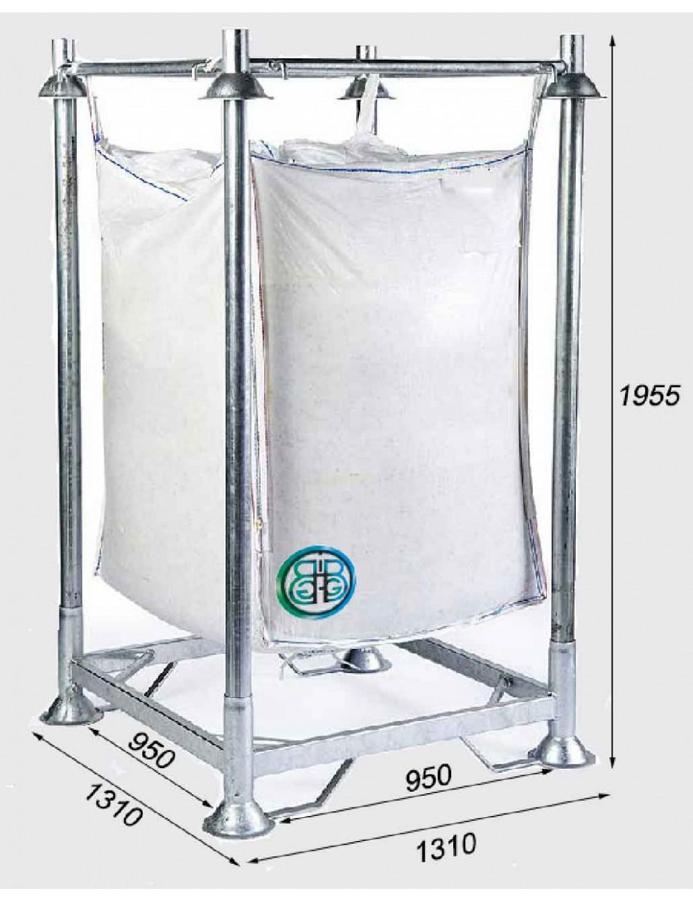 Supporto di riempimento per Big Bag base Chiusa altezza 195,5 cm