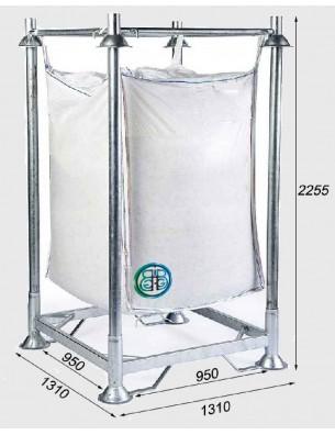 Supporto per sacco di macerie con base chiusa Altezza 225,5 cm
