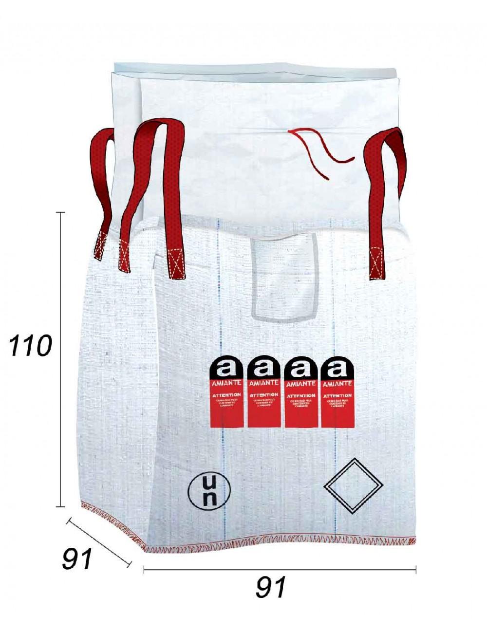 Big Bag Amianto 1m3 - riciclaggio autorizzato - 91X91X110