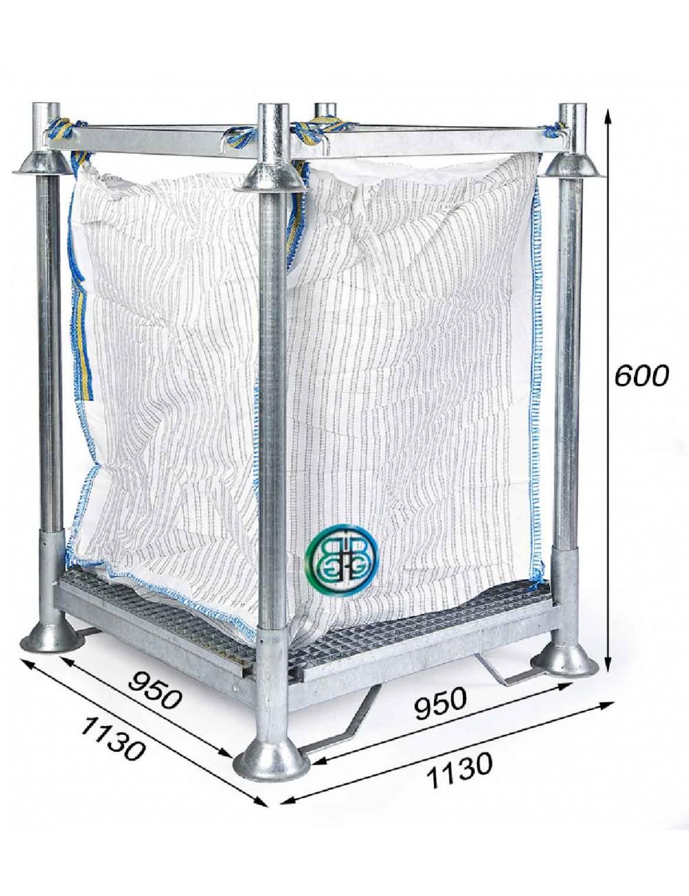 Telaio di supporto per Big Bag Filtrazione, altezza 60,0 cm