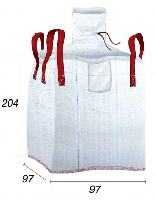 Big Bag Foderato con sacchetto di protezione interno - 93X93X200