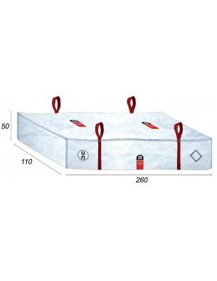Sacchetti di amianto Piastrain fibra di amianto - 260X110X50