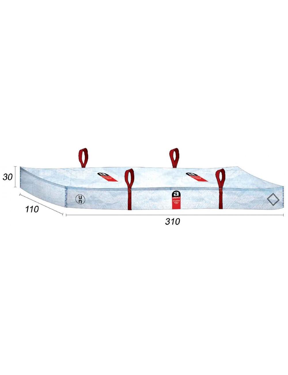 Sacchetti di amianto Tetto e tegole Amianto - 310X110X30