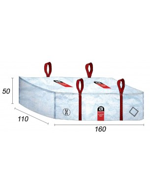 Sacchetti di cemento fibro amianto - 160X110X50