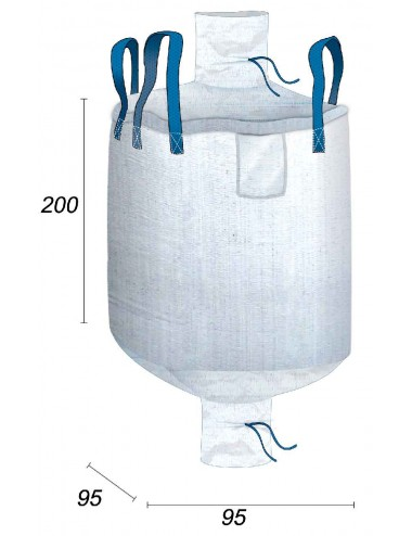 Big Bag Stoccaggio di merci voluminose - 95X95X200
