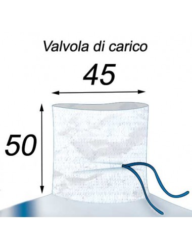 Big Bag Grande volume di 1600 litri - 90X90X200  Valvola di Carico 45X50