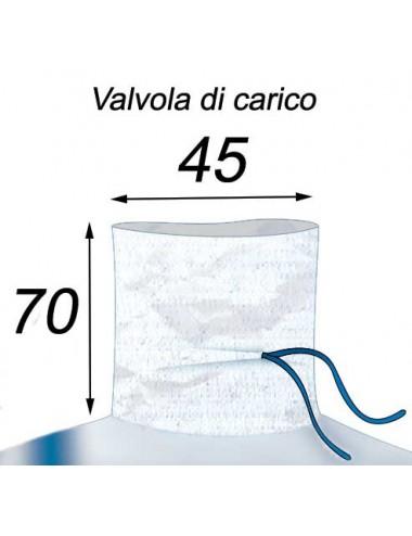 Big Bag Resistente e riutilizzabile - 90X90X140  Valvola di Carico 45X70