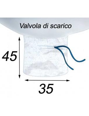 Big Bag Volume di 1,25 m3 e drenaggio per valvola - 95X95X140  Valvola di scarico 35X45