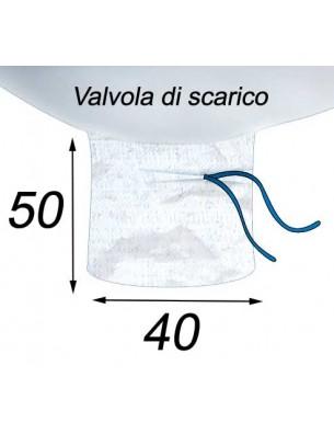 Big Bag Caramella e valvola di scarico - 95X95X195   Valvola di scarico 40X50