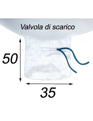 Big Bag Base rettangolare - 70X110X115  Valvola di scarico 35X50