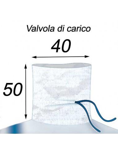 Big Bag Stoccaggio alla rinfusa, carico 600 kg - 90X90X110  Valvola di Carico 40X50
