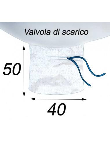 Big Bag Apertura a caramella e valvola di scarico - 90X90X110  Valvola di scarico 40X50