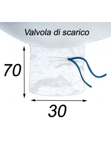 Big Bag Resistenza 600 kg valvole superiore e inferiore - 95X95X105  Valvola di scarico 30X70